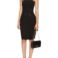 Vera Wang Women's Contrast Strapless Dress - Black -
