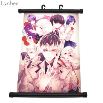 Lychee Japanese Anime Tokyo Ghoul Poster Scroll Painting Living Room Home Wall Print Modern Art Decor Poster