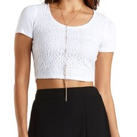 Lace Crop Top by Charlotte Russe