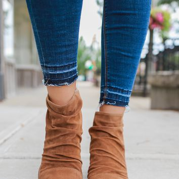 Middle of the Road Booties - Camel