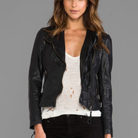 Muubaa Reval Moto Jacket in Black