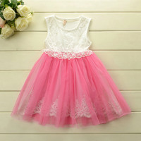 Grace Bougainvillea Tulle Lace Girl's Dress