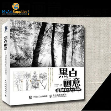 Black And White Natural Landscape Painting Tutorial Book 20K 204 Pages
