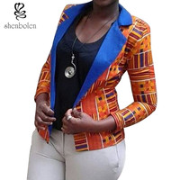 Africa Clothing women Fashion African ankara batik jacket of 2017 spring/autumn lady's traditional ankara fabric coat retail