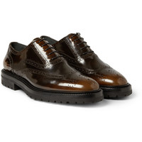 Burberry Prorsum - Burnished Patent-Leather Brogues | MR PORTER