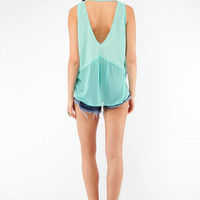 Double V Tank Top in Seafoam :: tobi