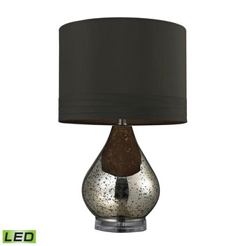 D244-LED Antique Mercury Glass LED Table Lamp in Gold - Free Shipping!