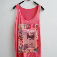 Audrey hepburn Women Peach Color Tank