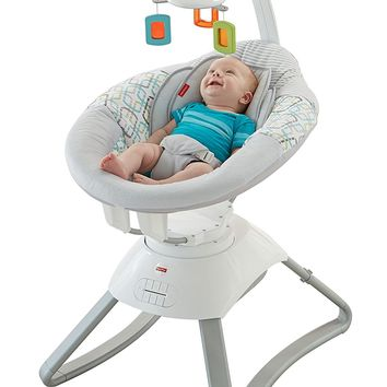 Fisher Price Soothing Motions Seat - Geo Diamonds