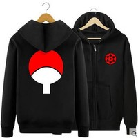 New Winter Jackets and Coats Naruto Hoodies Anime Hooded Zipper Men cardigan Sweatshirts