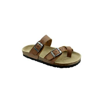 Buckle Sandal, Brown