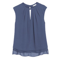 Rebecca Taylor Crepe Top with Cut Out