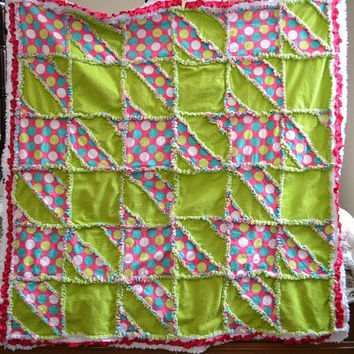 Houndstooth Rag Quilt Sewing Pattern Instant Download PDF
