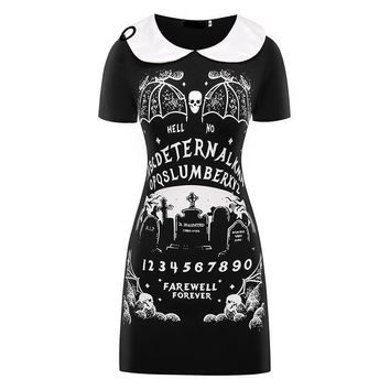HARAJUKU DRESS PUNK BLACK FURIOUS FAITH DRESS GOTHIC 2017 NEW