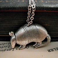 Armadillo Necklace - Silver Animal Nature Wildlife