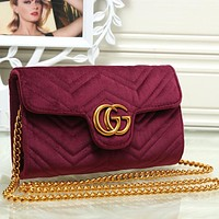 Gucci Women Fashion Leather Shoulder Bag Crossbody