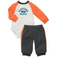 "Carter's Boys ""Handsome Like Daddy"" Long Sleeved Bodysuit and Pant Set"