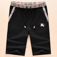 Burberry summer men's shorts men's five pants loose beach pants F-A00FS-GJ black