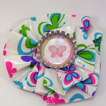 Butterfly Duct Tape Hair Clip by PyrateWench on Etsy