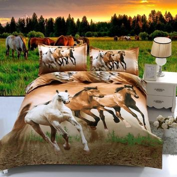 Three Horse Bedding Set