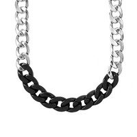 Plastic and Metal Chain Link Necklace | Claire's