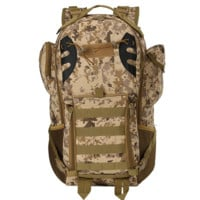 Camo Ourdoor 45L Backpack Military Waterproof Assault Pack Tactical Bag
