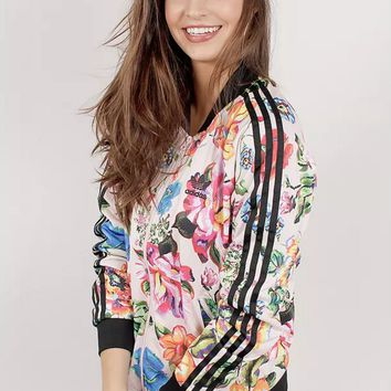 adidas Originals Farm Floralita Tracktop Multicolor Bomber Jacket