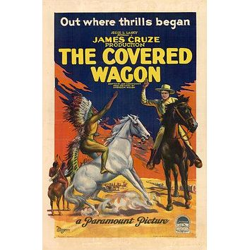 The Covered Wagon Poster//The Covered Wagon Movie Poster//Movie Poster//Poster Reprint