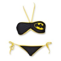 Batman Icon Two-Piece Bikini - Black (Medium)