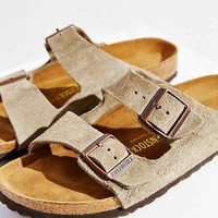 Birkenstock Arizona Suede Soft Footbed Sandal- Taupe Us