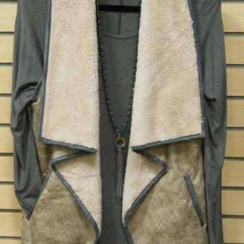 Jodifl Taupe/Charcoal Vest