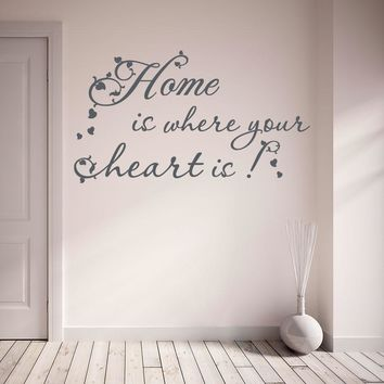 Home is Where Your Heart is Wall Decal