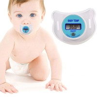 New Infants LED Pacifier Thermometer Baby Kids Health Safety Temperature Monito Blue Pink