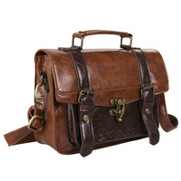 Trendy Unique New Classic Vintage Leather Handbag  Women's Briefcase , UNISEX