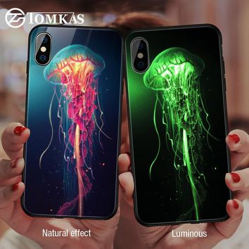 Luminous Jelly Fish Decorated iPhone Case