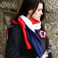 Les Miserables Scarf Red White Blue Cotton