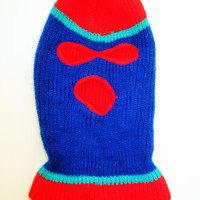 Vintage Colorblock Winter Ski Mask
