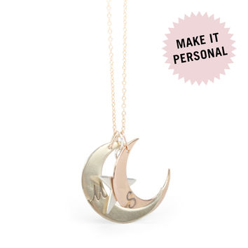 You are My Moon and Stars Stackable Necklace - Necklaces - Catbird