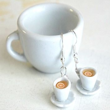 Lemon Tea Cup Earrings