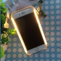 Cover for Samsung galaxy note 7 5 s6edge plus s5 6 7 s7edge Light LED Flash Case Selfie Lights Case for iPhone 7 5 5S SE 6s plus