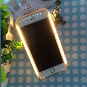 Cover for Samsung galaxy note 7 5 s6edge plus s5 6 7 s7edge Light LED Flash  Case Selfi e08f8a8c7