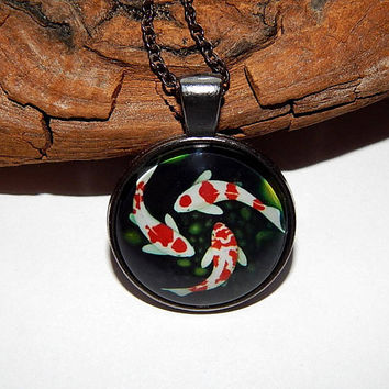 Fish Necklace, Fish Pendant, Fish keychain,  koi Necklace, koi Pendant, koi keychain, Japanese Koi Fish Necklace, Fish totem, koi Fish art