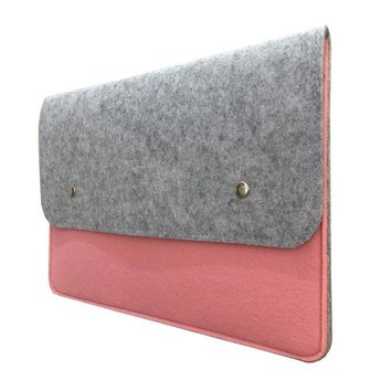 11 13 14 15.4 15.6 17.3 Wool Felt Laptop Sleeve Pouch Case for Macbook Lenovo/HP