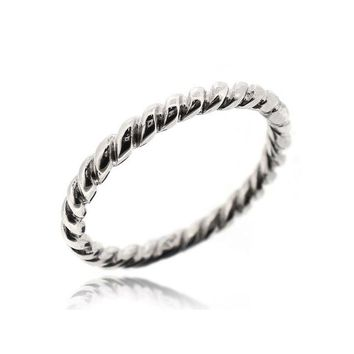 STACK TWISTED ROPE RING