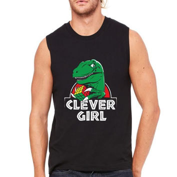 clever girl funny Muscle Tank