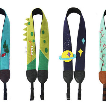 Camera Strap, Nikon/ Sony / Canon strap  DSLR Camera Strap personalized camera strap plum flower