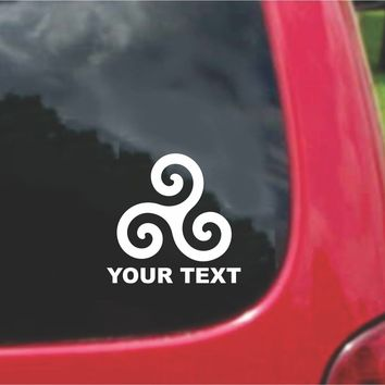 Triskel Triskelion Celtic Symbol Sticker Decal 20 Colors To Choose From.