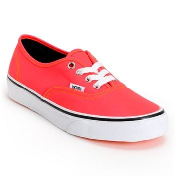 Vans Authentic Neon Red & Orange Shoes