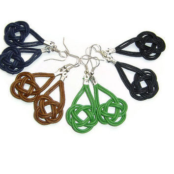 Nautical earrings, macrame, sailor knot, celtic knot