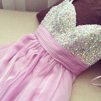 Stunning A-line Spaghetti Straps Mini Prom Dress